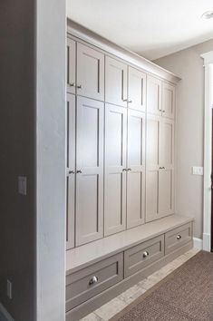 Wohnen Mudroom Cabinets How To Build With Cobb eco building,cobb building,eco friendly, Article Body Hallway Storage Cabinet, Mudroom Cabinets, Mudroom Laundry Room, Mud Room Lockers, Foyer Storage, Basement Storage, Closet Storage, Hall Storage Ideas, Cloakroom Storage