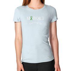 Women's Geen Ribbon Slim Fit T-Shirt