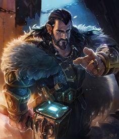 Young bearding dwarf warrior; zhengxin yang on DrawCrowd.com