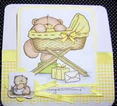 PERSONALISED BABY Easel Card Cute Bear & Cradle Congratulations Birth. Christening or Baptism Gingham. £3.99, via Etsy. Forever Friends Cards, Easel Cards, Cute Bears, Baby Cards, Personalized Baby, Christening, Card Ideas, Alphabet, Congratulations