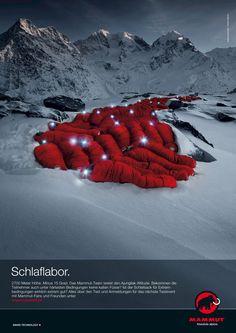 DAY DREAMER. Das Schlaflabor - ein wundbares Storytelling Bild von Mammut aus der Kampagne Web 2.0 (2008)
