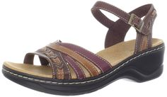 Clarks Women's Lexi Norwich Sandal *** Check this awesome image : Clarks sandals Clarks Sandals, Wedge Sandals, Ladies Sandals, Platform, Wedges, Women's Fashion, Lady, Awesome, Check