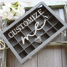 This gorgeous canvas covered wood jewelry box is the perfect storage solution and gift for the love in your life. Whether you are looking for a birthday gift for her, a special anniversary gift, or Mothers Day, we have you covered! Engraved Gifts, Engraved Jewelry, Cool Gifts For Teens, Gifts For Him, Customized Gifts, Personalized Gifts, Jewelry Tray, Monogram Design, Birthday Gifts For Her