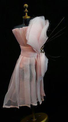 Vestido Rosa Coquetel #boneca #barbie #vestido #dress #doll #pink #party