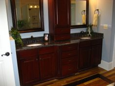 master bathroom vanity & mirrors really thinking of this in mine??