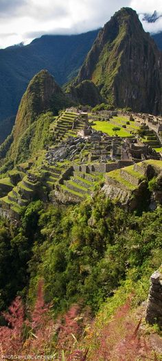 "Machu Picchu, Peru: One of the ""New"" 7 wonders of the world -- photo: Eric Lindbergh. Machu Picchu, Peru: One of the New 7 wonders of the world -- photo: Eric Lindbergh. Machu Picchu, Places Around The World, Travel Around The World, Around The Worlds, Places To Travel, Places To See, Travel Destinations, Wonderful Places, Beautiful Places"