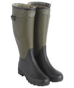 Women's Le Chameau Manoir Wellington Boots - Vert Chameau / Noir