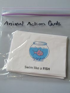 Learning Game Cards (Animal Action Cards) gets them thinking and moving