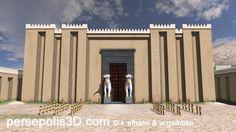 Achaemenids (Persepolis) - computer 3D reconstruction of Persepolis, Plaza of Army.