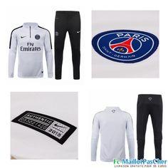 Le Nouveau Survetement PSG Blanc 15 2016 2017 Prix Pas Cher