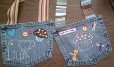 Upcycled jeans to mini purses