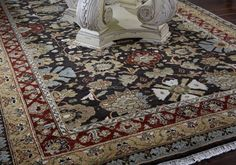 Wish you lived in #Biltmore House? Now you can bring a piece of it #home with this reproduction Classics Floral Bidjar Area #Rug. #decorating www.biltmore.com