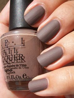 "Love the Matte finish & the color ""OPI Jacques Matte"""