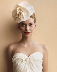 Fabric Flower Clip | 47 Gorgeous Wedding Headpiece Ideas