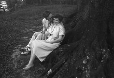 """My in-laws, Bill and Nancy, in a park in Waco, Texas in the fifties.  I love his shoes and socks!"" – Kody via The Sartorialist"