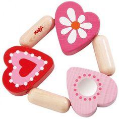 Haba 3796 - Drewniany Gryzak Mimi dla Noworodków, pomalowany bezpiecznymi farbami!  Różowe serduszka w sam raz dla dziewczynki. Rekomendowana od 6 miesiąca życia.  Wszystkie elementy umieszczono na elastycznej gumce dzięki czemu zabawka jest giętka - świetne ćwiczenie manualne dla maluszka. Sprawdźcie sami:)  http://www.niczchin.pl/zabawki-dla-noworodkow/2863-haba-3796-gryzak-mimi.html  #haba #gryzak #dlanoworodka #zabawki #niczchin #krakow