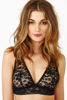 Carmen Lace Bralette in What's New at Nasty Gal Pretty Bras, Cute Bras, Lingerie Party, Bra Lingerie, Black Lace Bralette, Vogue, Hollywood Celebrities, Beautiful Lingerie, Types Of Fashion Styles
