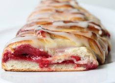 Raspberry Pastry Braid  I think I'll make this for Christmas Morning!