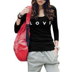 Allegra K Ladies Scoop Neck Long Sleeve Loose Pullover Fall Leisure Top Shirt Black XS Allegra K. $9.92
