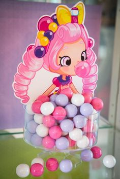 What a cool idea for gum at a Shopkins Birthday Party! see more party ideas and … - Modernes Bolo Shopkins, Fete Shopkins, Shopkins Bday, Shopkins Pinata, Shopkins Party Ideas, Shopkins Costume, 6th Birthday Parties, Girl Birthday, Birthday Ideas