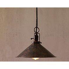 Antique Rustic Cone Shaped One Light Pendant Only Kalalou Dome Pendant Lighting Ceiling Li