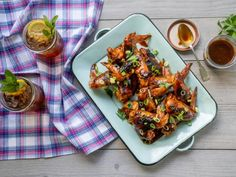 Food network recipes 89649848819599768 - Sea Island Wings Recipe from Kardea Brown of Delicious Miss Brown Grilling Recipes, Cooking Recipes, Kitchen Recipes, Brown Recipe, Chicken Wing Recipes, Appetizer Recipes, Entree Recipes, Party Recipes, Yummy Appetizers