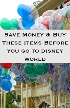save money at Walt Disney World and buy these items before you visit