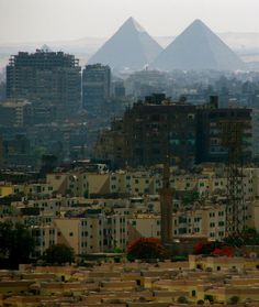 Great pyramids of Giza, from Cairo Citadel, Egypt [1782x2110]