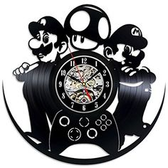 Decorate your home with Modern Art Car Retro Vinyl Record Wall Clock Gift for kids girls and boys Win a prize for a feedback