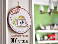 ** Chic Tags- delightful paper tag **: Embroidery Hoop- scrapbooking style DIY home decor...