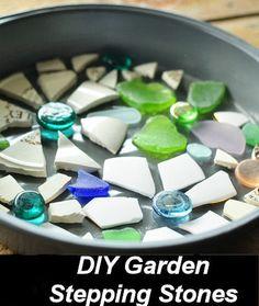 DIY Mosaic Garden Stepping Stones