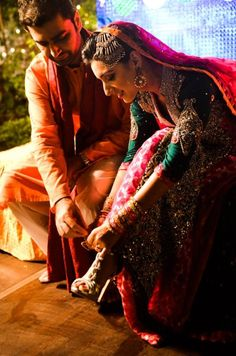 those sleeves and colors #indian #wedding