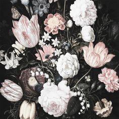 Pastel Garden Flowers Wall Decals