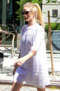 Rosie Huntington-Whiteley wearing Isabel Marant dress