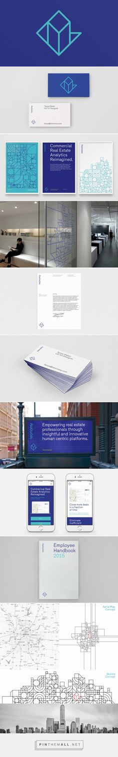Reonomy on Behance. - a grouped images picture - Pin Them All Collateral Design, Brand Identity Design, Graphic Design Branding, Logo Design, Packaging Design, Corporate Id, Corporate Design, Business Design, Web Design Mobile