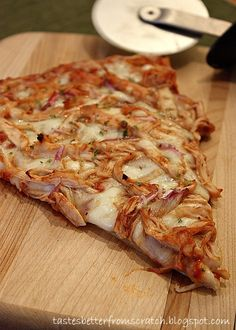 Tastes Better From Scratch: Barbeque Chicken Pizza.