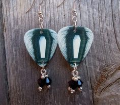 Metallica Death Magnetic Album Guitar Pick Earrings with Crystals, by ItsYourPickToo on Etsy