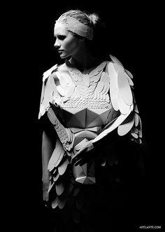 Paper Wedding Dress // Dana Jasinkevica & Dita Enikova | Afflante.com