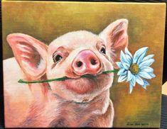 PIG (D) cross stitch chart pdf Farm Paintings, Animal Paintings, Animal Drawings, Art Drawings, Cow Painting, Painting & Drawing, Afrique Art, Pig Drawing, Pig Illustration