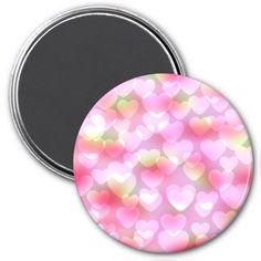 Bokeh Hearts Purple-Pink Refrigerator Magnet #zazzle #magnet #bokeh #hearts