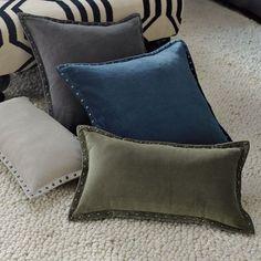 West Elm - studded velvet pillow cover