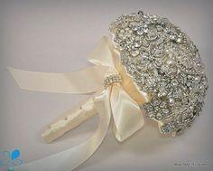 FULL PRICE (not a deposit) - MEDIUM Diamante Brooch Bouquet - by Blue Petyl - Bridal Bouquet - Wedding Bouquet