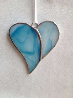 Stained Glass Ornament  Simple Heart by MamaAgees on Etsy, $5.00