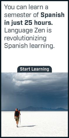 Language Zen is proven to help you learn Spanish 50% faster than Duolingo and 2x faster than Rosetta Stone. Start learning today!
