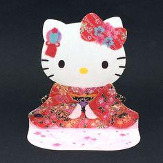 Hello Kitty w/ Japanese Kimono Pop Up Greeting Card - SANRIO #Sanrio #JapaneseKimono #ChristmasNewYearHoliday