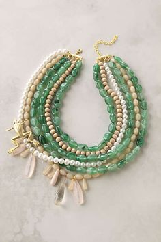 Anthropologie - Jumping Jade Necklace