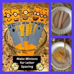First Grade Bloomabilities: Made Minion Spacers!