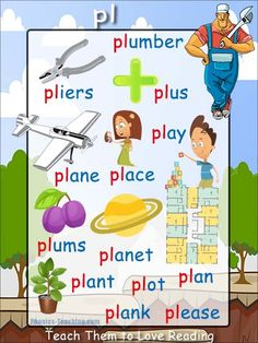 'pl' words phonics poster - Free Download!