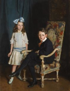 Portrait of Jean McKelvie Sclater-Booth and her brother (1916) by Harrington Mann.