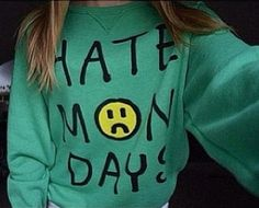 Perfect Monday hoodie for school